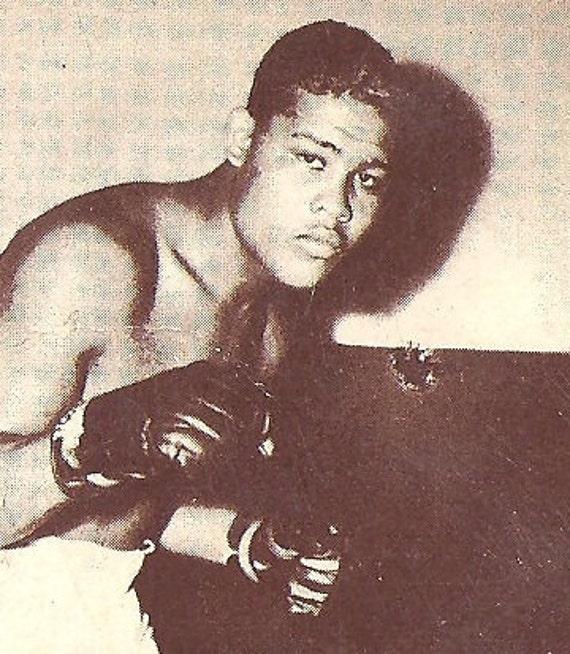 Champion Joe Louis Boxer Blank Advertising Card