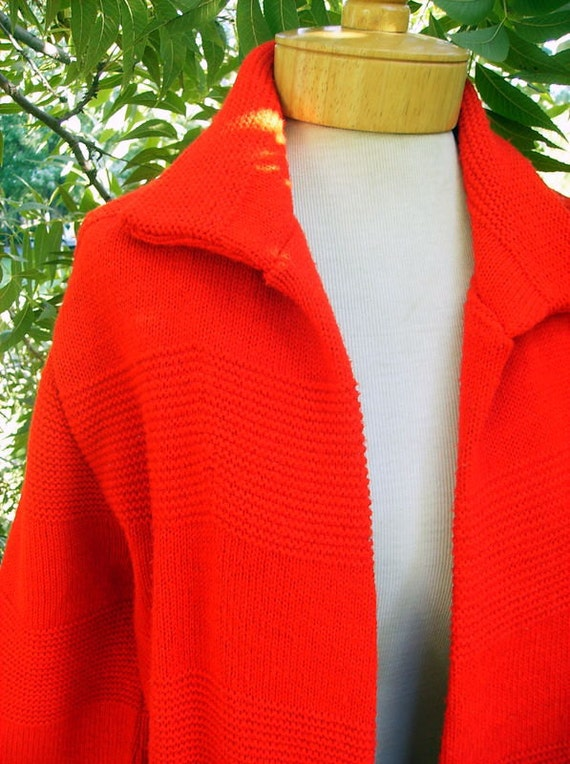 British Vogue Red Long Sweater Coat