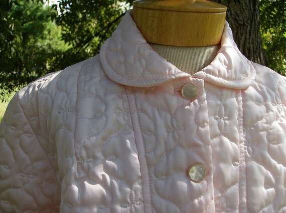 Pink Quilted Bed Jacket