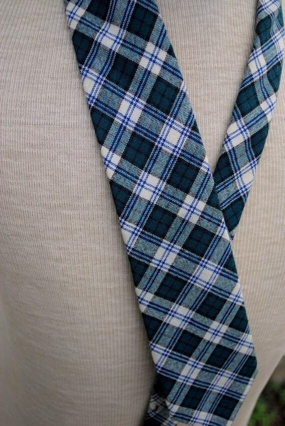 Vintage Ivey's Wool Plaid Necktie