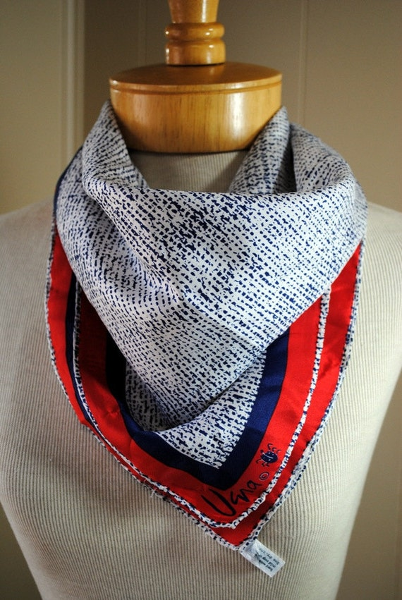 Red White and Blue Vera Scarf
