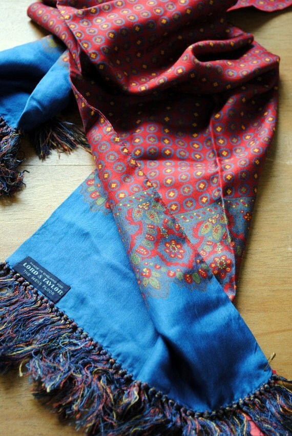 Silk Man's Scarf, Made in England for Lord and Taylor