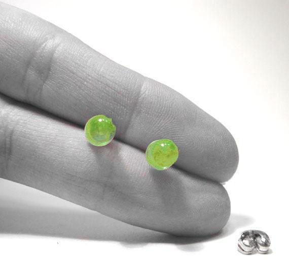 Spring Green Earrings LED Light Post Computer Part Earring