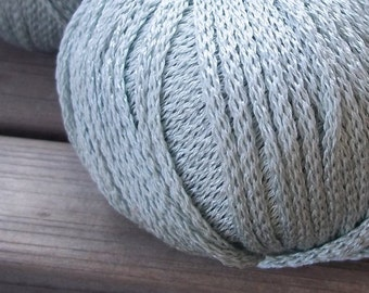 ARAN Weight Yarn - Pale Blue Green Grey - Seaside Wear - S.Charles Collezione Victoria - 50g