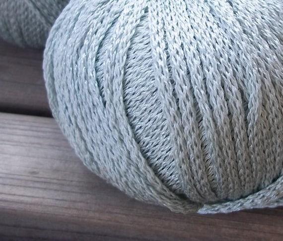 ARAN Weight Yarn - Pale Blue Green Grey - Seaside Wear - S.Charles Collezione Victoria - 50g