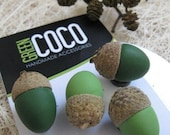 3 Colorful Acorn Magnets