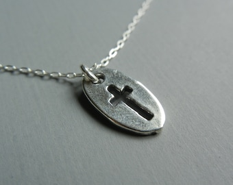 Cross Silhouette Necklace