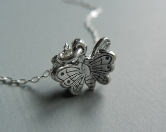 Open Winged Butterfly Necklace