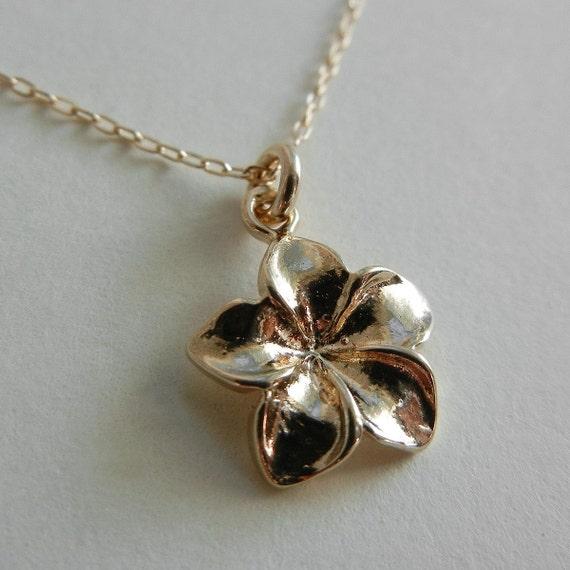 Plumeria Necklace (Gold)