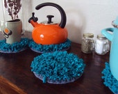 Modern Doily - Small - Turquoise Table Topper