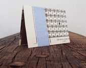 Blank Fabric Card  - The Game Book Blue Fiber Card