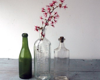 Antique Apothecary Bottles, Set D