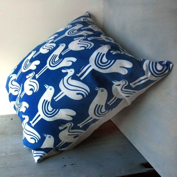 1970's Silkscreened Bird Pillow