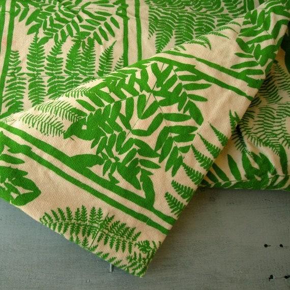 Green Fern Velvet Fabric