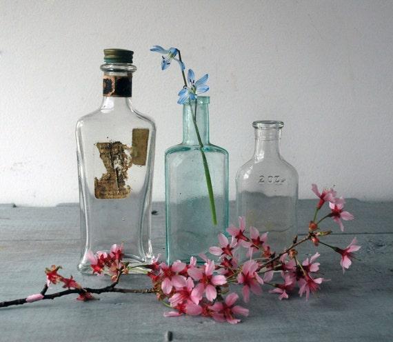 Antique Apothecary Bottles, Set C