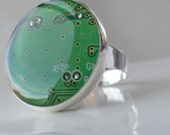 Recycled Light Green Motherboard Ring