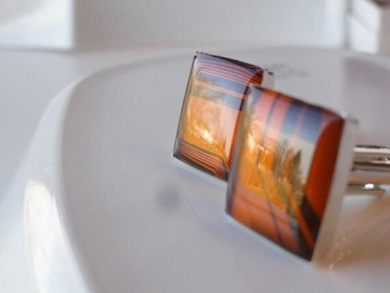 Burnt Orange Flex Lead Cuff Links