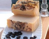 Caramel Vanilla Coffee Soap Bar Handmade Vegan Cold Process