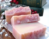 Candy Cane Cold Process Olive Oil Soap Bar Vegan