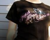 CLEARANCE - Flame Dove Christian tshirt - Faith Hope Charitees Logo