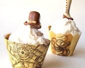 Steampunk Cupcake Wrappers - Printable PDF