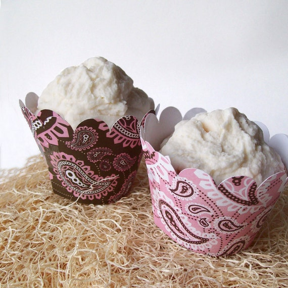 Bandana Cupcake Wrappers - Printable PDF - CUSTOMIZABLE