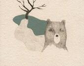 GICLEE print , fine art, lovely bear
