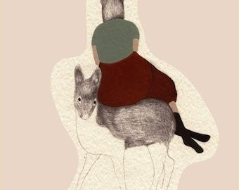 GICLEE print ,Deer,  fine art