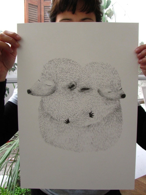 Silk-screen printing, Hedgehog serigrafia