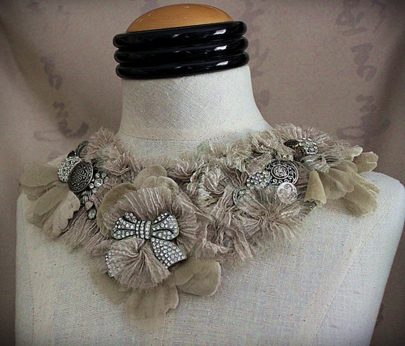 Handmade Bib Necklace by Carla Fox Design