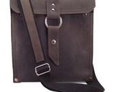 """13"""" Leather Laptop Bag New:  - Rustic Brown Slim Traveler - 13"""" Air"""