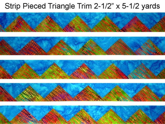 PIECED TRIANGLE TRIM / Quilt Block / Quilt and Sewing Supplies / Rita Hutchens