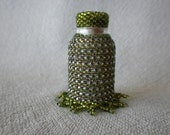 Beaded Bottle with Lace Edge
