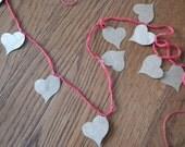 Paper Heart Garland - One Dozen Reasons We Belong Together