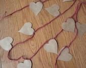Paper Heart Garland - One Dozen Reasons I Love You.