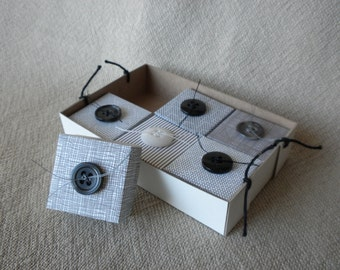 Gift Box Set from Black and White Upcycled Paper