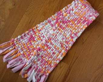 Handwoven Runner  in Pink and Melon
