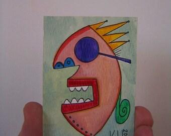 Rock Star J15 - Aceo, Original Watercolor