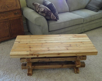 Rustic Cedar Table