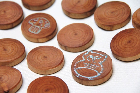 woodland memory game in cherry - all natural wood toy