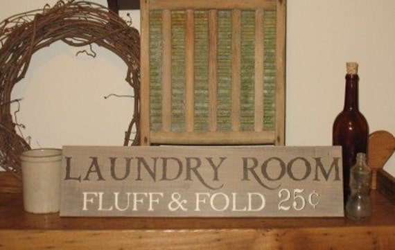 laundry room wood sign rustic primitive home decor wall