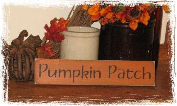 Pumpkin Patch Wood Sign Fall Season