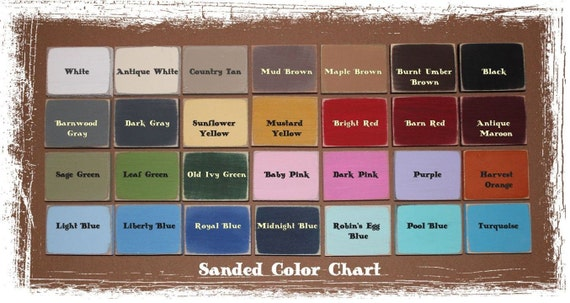 Color Chart and Sanding Distressing Levels for Appalachian Primitive Sign Shop (This Listing is not for Purchase)