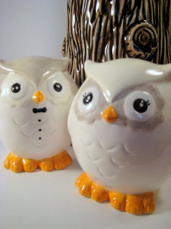 ceramic owl wedding cake toppers items similar to ceramic custom owl and groom 12489