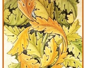 Morris's Acanthus Vines in Neutral Tones Counted Cross Stitch Chart -  William Morris design in the Arts and Crafts Style