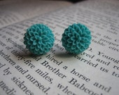 Turquoise Mum Earrings