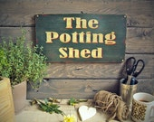 Potting Shed Sign . The Potting Shed Wooden Sign With Vintage Finish