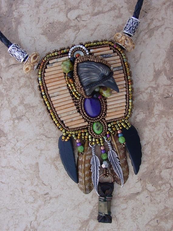 Raven Totem necklace