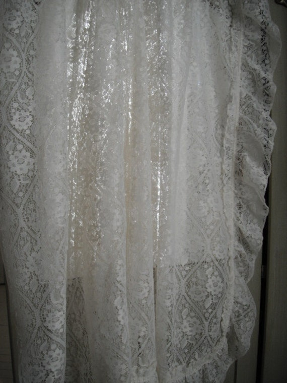 shabby chic lace curtains