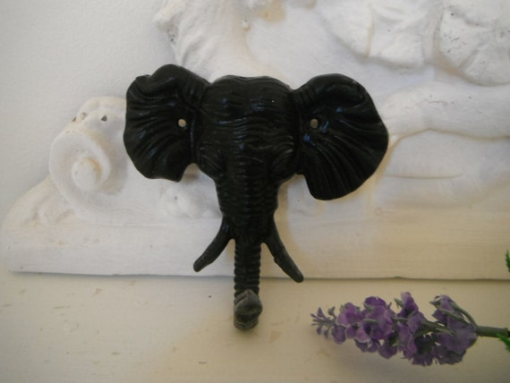 black  elephant wall hook shabby chic cast iron contemporary wall hook nursery decor girls room boys room